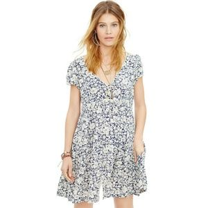 Denim Supply RL Floral Button Down Babydoll Dress